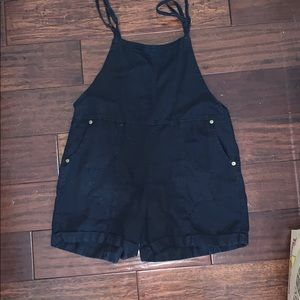 Black overalls/romper